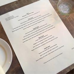Flora's spring menu